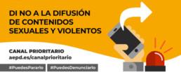 DI NO A LA DIFUSIÓN DE CONTENIDOS SEXUALES Y VIOLENTOS